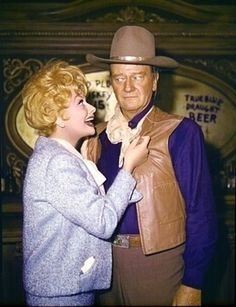 Lucy and John Wayne - 1960's   Two of the very best there ever was.