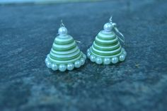paper jhumka with  double tone paper