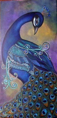 Amazing peacock painting  #animalart #art http://www.keypcreative.com/