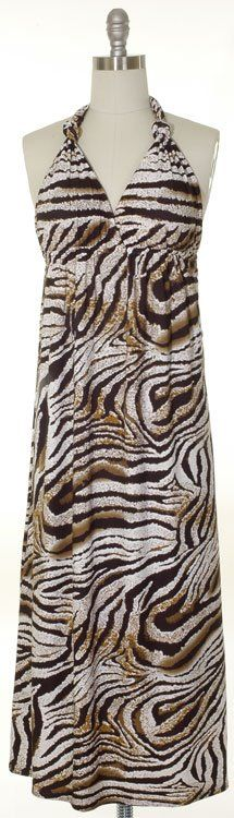 Maxi Knotted Dress - Brown Leopard~ 22.00 Shipped!  Sizes available~ 1-SM, 2-MED, 2-LG, 1-XL