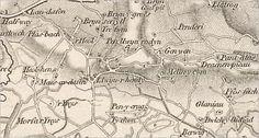 1830. Llwynhendy, Llanelly, Carmarthenshire, Wales