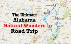 To see Alabama's most incredible natural wonders, you'll definitely want to take this ultimate road trip.