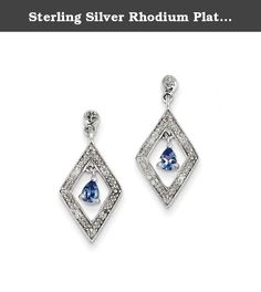 Sterling Silver Rhodium Plated Diamond & Tanzanite Post Earrings. Product Type:Jewelry Jewelry Type:Earrings Earring Type:Drop & Dangle Material: Primary:Sterling Silver Material: Primary - Color:White Material: Primary - Purity:925 Length of Item:22 mm Width of Item:10 mm Earring Closure:Post & Push Back Stone Type_1:Tanzanite Stone Creation Method_1:Natural Stone Treatment_1:Heating Stone Shape_1:Pear Stone Color_1:Blue Stone Size_1:4 x 3 mm Stone Quantity_1:2 Stone Weight_1:0.14 ct…