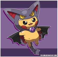 Pikachu Gliscor by fer-gon