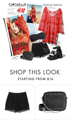 """""""H&M x Coachella Festival Style"""" by sella103 ❤ liked on Polyvore featuring H&M"""