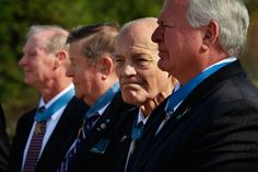 Congressional Medal of Honor recipients (L-R) Tom Norris, Joe Jackson, Robert Howard, and Mike Thornton gather together prior to the opening ceremony for the Medal of Honor Society Convention September 15, 2009 in Chicago, Illinois. The Medal of Honor is the highest military honor awarded for bravery on the battlefield. There are currently 95 living Medal of Honor Recipients.