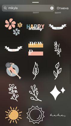 Instagram Emoji, Cool Instagram, Creative Instagram Stories, Instagram And Snapchat, Instagram Blog, Instagram Story Ideas, Mickey First Birthday, Iphone Lockscreen Wallpaper, Snapchat Stickers