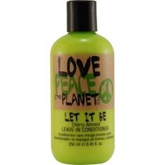 TIGI Love, Peace and The Planet Let it Be Leave-In Conditioner, Cherry Almond, Ounce for sale online Oily Hair, Moroccan Oil, Leave In Conditioner, Peace And Love, Shea Butter, Planets, Hair Care, Shampoo, Let It Be