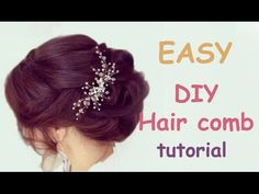 DIY How to make Hair Vine Hairpin Bridal Headpiece Hair Comb Wedding Hairstyle Tutorial - YouTube