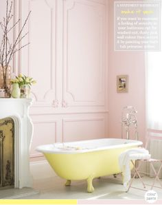 Colour Palette: Yellow & Pink Bathroom – Bright.Bazaar