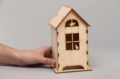 Plywood blank tea bag house from Kreative Werkstatt by DaWanda.com