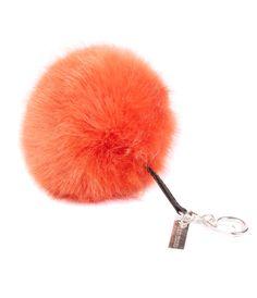 Joanna Wood Blaze PomPom Keyring www.joannawood.com #orange #pompom #keyring #bagaccessories #handbag