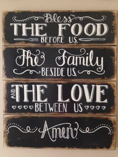 24 x 29 Bless the Food before Us The Family by DesignsbyRhondaLynn