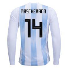 fc46d401689 adidas Javier Mascherano Argentina Long Sleeve Home Jersey 2018 Argentina  World Cup 2018