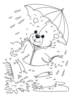 teddy bear connect the dot Fish Activities, Activities For Kids, Colouring Pages, Coloring Books, Happy Teddy Bear Day, Dot To Dot Puzzles, Dot To Dot Printables, Art Books For Kids, Hidden Pictures