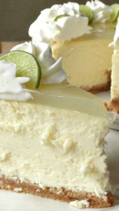 cheesecake recipes Key Lime Cheesecake When tossing around ideas on what to take to our friends' house for dinner this weekend, my husband suggested key lime cheesecake. 13 Desserts, Brownie Desserts, Chocolate Cheesecake, Dessert Recipes, Key Lime Desserts, Chocolate Brownies, Poke Cake Recipes, Dessert Ideas, Dinner Recipes