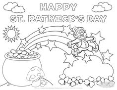St Patricks Day Coloring Page Bertmilne Intended For Preschool Throughout Patrick - bitslice.