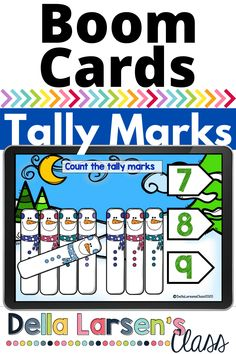 Boom Cards is a fun winter snowman counting deck. Give your students practice counting tally marks. Your students will love this cheerful snowman tally mark counting deck. Make winter math centers fun with this deck in your kindergarten class this winter Kindergarten Math Activities, Kindergarten Classroom, Interactive Learning, Fun Learning, Tally Marks, Google Classroom, Literacy Centers, Counting, Snowman
