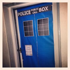 Had a great #Who night with friends for #DrWho 50th anniversary #tardis doctor who decor. Used wrapping paper, and printouts.