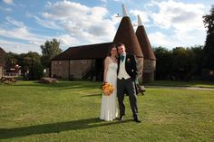 Beautiful couple on a grogeous day for a Kent wedding