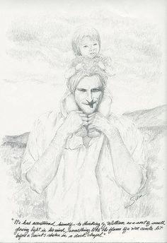 """""""Se había acostumbrado  a pensar en William como en una especie de pequeña y resplandeciente luz que brillaba en su mente, algo así como la llama de una vela de cera encendida ante la estatua  de algún santo  en una capilla oscura"""""""