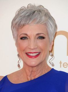 Pixie for gray hair #hairstylesforwomenover50