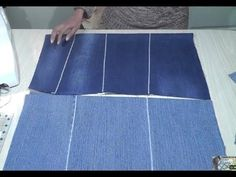 How to make flat fabric from old jeans / Seamless zig zag join technique - YouTube