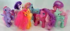 2008 McDonald's My Little Pony Lot Of 7 Figures- 3 Inches #Hasbro
