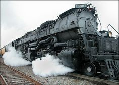The world's largest operating steam makes a pit stop at Russellville Arkansas' recently renovated RR Depot.