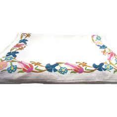 French Linen Table Runner With Point de Beauvais Embroidery from oldstonemansion on Ruby Lane