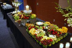 Fruit And Cheese Display | Fruit and Cheese Display. - Wedding Catering Photos