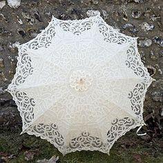 lacy edwardian wedding parasol