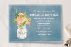 Bouquet D'Amour Wedding Invitations by Beth Ann at minted.com