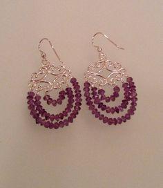 Filligree earrings by Gueducha on Etsy, $55.00