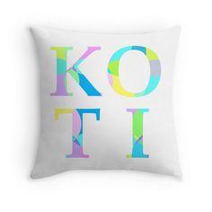 Koti - Multicolour Pastel - Throw Pillow Cover - http://annumar.com/en/designs/koti-multicolour-pastel-throw-pillow-cover