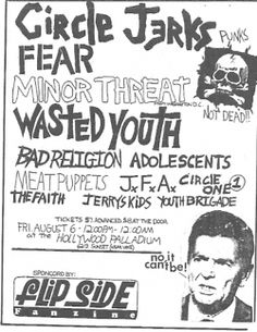 Quite a few solid punk bands on this flyer.