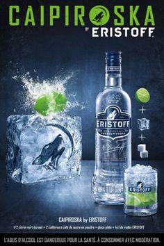Pub Eristoff Beverages, Drinks, Bartender, Vodka Bottle, Cocktails, Advertising, Spirit, Design Inspiration, Art Direction
