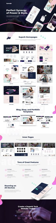 Synergia WordPress theme comes with nine simply gorgeous as well as completely customizable homepages, various other layouts and amazing options great for showcasing your company and products.  #wordpress #webdesign #theme #layout #template #digital #startup #agency #app #software #technology #landingpage
