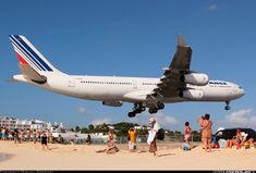 Air France landing in St.Martin