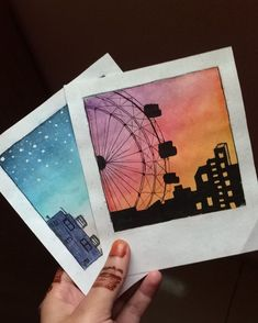 Simple Canvas Paintings, Easy Canvas Art, Small Canvas Art, Mini Canvas Art, Watercolor Art Lessons, Art Drawings Sketches Simple, Pastel Art, Polaroid, Artsy
