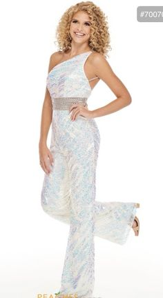 Queenly | Buy and sell prom, pageant, and formal dresses Prom Dress Stores, Homecoming Dresses, Jumpsuit Prom Dress, Plus Size White Jumpsuit, High Fashion Looks, Beaded Prom Dress, Designer Prom Dresses, Perfect Prom Dress, Dresses For Sale