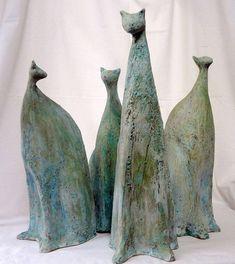 Pottery cats by Serbian artist Dragana Knezevic