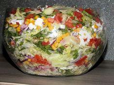 Baked Cod, Tortellini, Kraut, Feta, Guacamole, Cobb Salad, Baked Potato, Salad Recipes, Cabbage