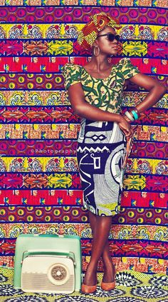 I love African Fabric. Photo by Ofoe Amegavie I love African Fabric. Photo by Ofoe Amegavie African Inspired Fashion, African Print Fashion, Ethnic Fashion, Fashion Prints, African Prints, African Patterns, Ankara Fashion, High Fashion, Fashion Check