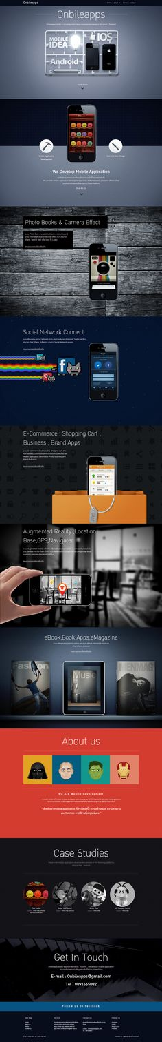 Unique Web Design, Onbileapps #WebDesign #Design (http://www.pinterest.com/aldenchong/)