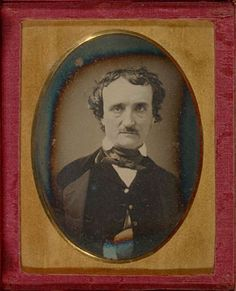 """ca. 1849, [daguerreotype portrait of Edgar Allan Poe, taken several months before his death]    via the J. Paul Getty Museum, Cased Objects, Photographic Collection"""