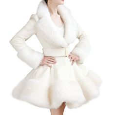Partiss Women's Victorian Lolita Winter Wool Blend Faux Fur Trench Coat, Chinese S, White 1 Partiss http://www.amazon.com/dp/B018I1YYAO/ref=cm_sw_r_pi_dp_h95Dwb03EADTS