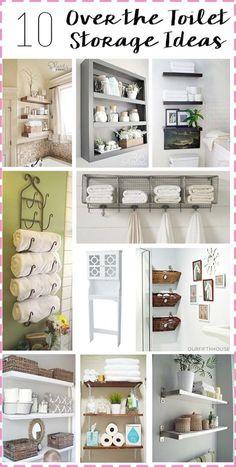 Bathroom Storage: Over the Toilet \/\/ amber-oliver.com