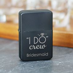 Personalized Engraved I Do Crew Lighter