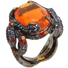 Bague Serpents Opale de feu Lorenz Bäumer